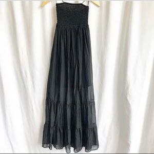 Guess Los Angeles black tiered tube dress